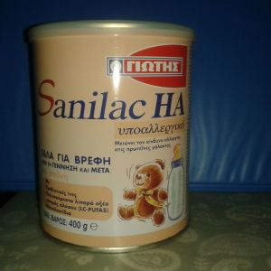 Υποαλλεργικό βρεφικό γάλα Γιώτης Sanilac HA 400 gr