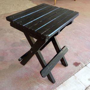 Σκαμπό - Τραπεζάκι ξύλινο πτυσσόμενο