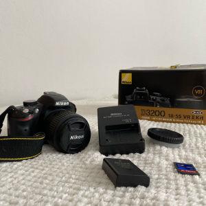 NIKON D3200+lens 18-55mm