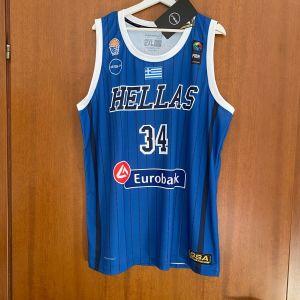 Εμφάνιση φανέλα GIANNIS ANTETOKOUNMPO Εθνική Ελλάδος Μπάσκετ Anniversary XXL & XL