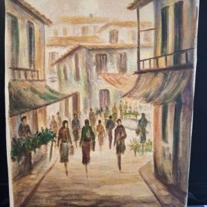 Πίνακας ζωγραφικής του Αυγεριού. Χωριό.