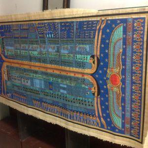 Αιγυπτιακός πάπυρος μεγάλων διαστάσεων ενυπογραφος