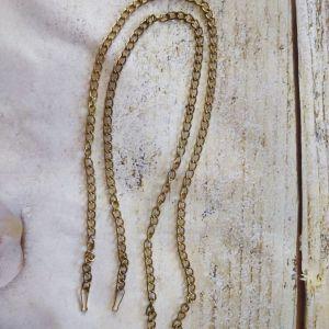 Μεταλλική αλυσίδα, έτοιμη,  μήκος -109 εκ., παχος- 8 mm.  χρυσό.