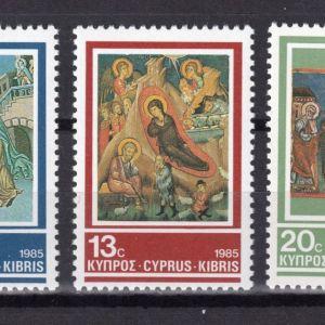 CYPRUS - 1985 - CHRISTMAS  - SET OF 3 - MNH