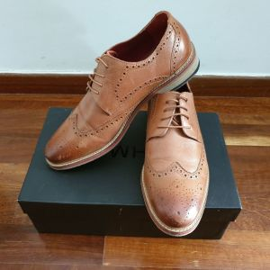 Ανδρικά Παπούτσια Oxford Καφέ Δερμάτινα Νο44
