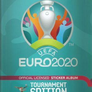 UEFA EURO 2020 Tournament Edition Official Sticker Collection Hardcover Album