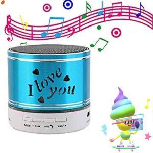 Mini Super Bass Stereo Wireless Speaker TF Card Slot I Love You