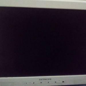 Επωνυμο LCD οθονη υπολογηστης HITACHY 18'' με ενσοματομενο ηχεα αρχηκης αξιας 160€ λογο μετακομισης στην πολυ χαμηλη συμβολικη τιμη της υπερ ευκαιριας 20€