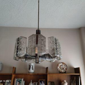 Φωτιστικό οροφής γυάλινο πολύγωνο σκαλιστό 60€. ΤΗΛ 69********