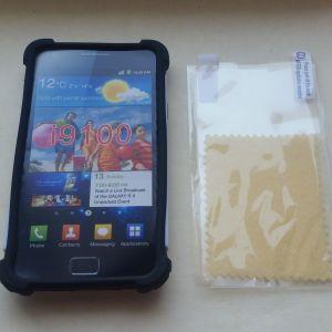 Υβριδική θήκη καουτσούκ σκληρή κάλυψη για το Samsung Galaxy S2