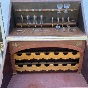 Μπάρ Έπιπλο δερμάτινο-ξύλινο Vintage Σε Τιμή Ευκαιρίας!!!