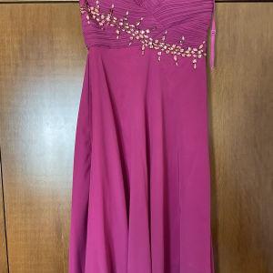 Βραδινό φόρεμα μουσελίνα M/L