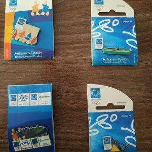 Αναμνηστικά pin Ολυμπιακών αγώνων 2004 καρφίτσες