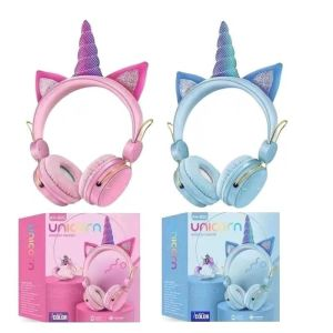 Ασύρματα ακουστικά – Headphones Unicorn – AH805 – Blue & Pink