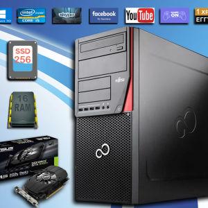 fujitsu p720 i5-4590 / 16 RAM / 256 SSD +  Asus GeForce GTX1050 Ti 4GB
