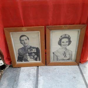 Κάδρα της δεκαετίας του '60 του Βασιλιά Κωνσταντίνου και της 'Αννας Μαρίας.