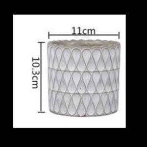 μικρο κυκλικο τσιμεντενιο γλαστρακι χειροποιητο
