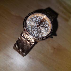 Ροζ-χρυσο ρολόι JustCavalli