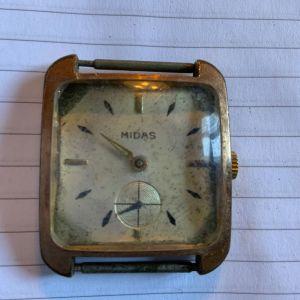 Midas ανδρικό κουρδιστό ρολόι χειρός 1960