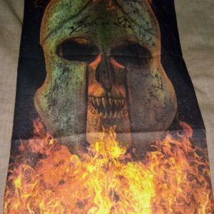 Μπαντανα - Μασκα Μοτοσικλετας Flaming Skull Helmet