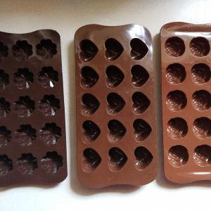 3 φορμες απο σιλικονη υψηλης ποιοτητας για σοκολατακια