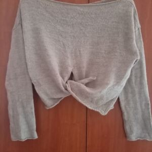 Crop-top γκρι small