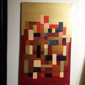 Πίνακας χειροποιητος ζωγραφικη σε μουσαμά