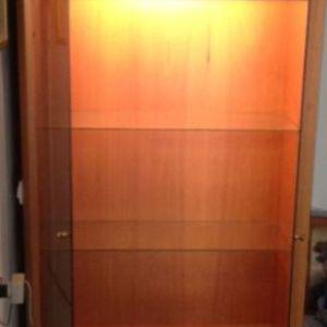 Βιτρίνα - Κρυσταλιέρα με συρτάρια, ντουλάπι και εσωτερικό φωτισμό