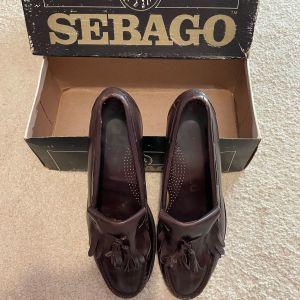 Sebago, ανδρικά  παπούτσια καφέ, δερμάτινα, χειροποίητα