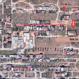 Οικόπεδο 607m2  στα Μεγάλα σχοίνα Β' , Αχαρναί , εκτός σχεδίου , Γωνιακό 30Χ20 ,