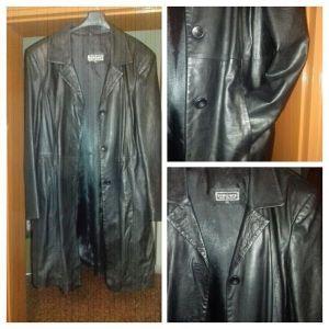 xL δερμάτινο παλτό γυναικείο