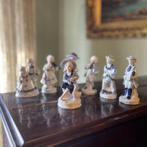 7 Vintage Πορσελάνη Μικρά Αγαλματίδια