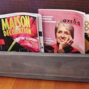 Θήκη για περιοδικά-βιβλία (από ξύλα παλέτας)