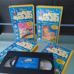 magic english vhs 4 βιντεοκασετες της Disney