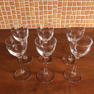 6 ποτήρια  λικέρ κρυστάλλινα