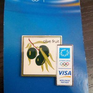 ATHENS VISA 2004 Συλλεκτικο Επισημο Pin
