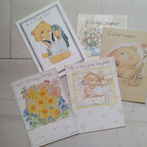 καρτες γενεθλίων για συγγενικά πρόσωπα 5 ευρω η μια