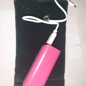 Power bank ροζ