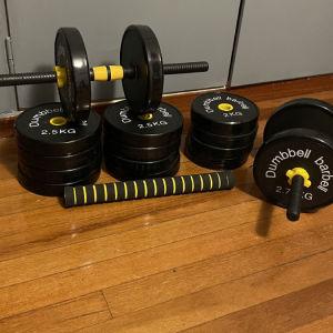 Σετ βαρη μπάρα ή αλτήρες (40kg)