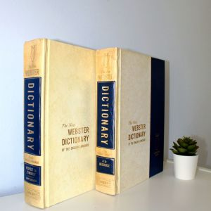 Vintage leather-bound book 1967: Webster's Dictionary of the English Language (Αγγλικό Λεξικό)