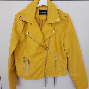 Κίτρινο Biker τζάκετ L