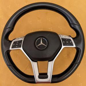 τιμόνι γνήσιο για Mercedes μαύρο δερμάτινο