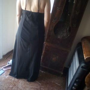 Φόρεμα μάξι, μαύρο με διαφάνεια.