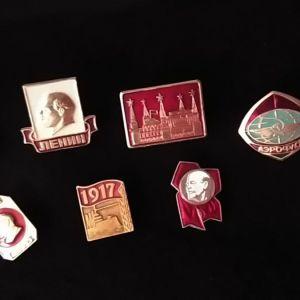Συλλεκτικές καρφίτσες πέτου από την ΕΣΣΔ