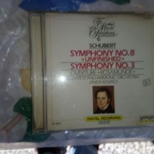 CD SCHUBERT SYMPHONY NO 8-SYMPHONY NO 3-BUDAPEST PHILARMONIC ORCHESTRA