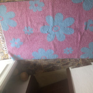 χαλί με κρόσια για παιδικό δωμάτιο 2 όψεων