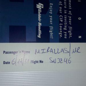 Κεβιν Μιραλας μοναδικό συλλεκτικό ταξιδιωτικό έγγραφο 2011