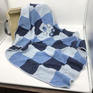 Κουβέρτα χειροποίητη πλέκτη λίκνου κούνιας παιδικό κρεβάτι μοτίβο αγόρι