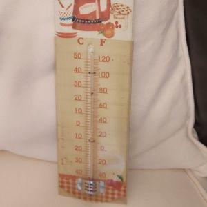 Διακοσμητικό μεταλικό θερμόμετρο χώρου