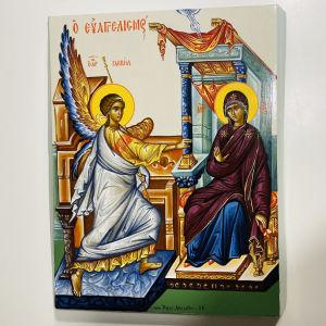 Βυζαντινή εικόνα του ευαγγελισμού